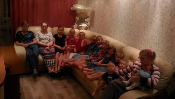 В многодетной семье из Подмосковья родился 14-й ребенок
