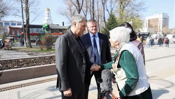 Председатель Госдумы посетил в Саратов и попал в действительность