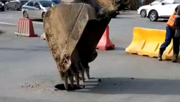 Асфальт в России может держаться на воздухе