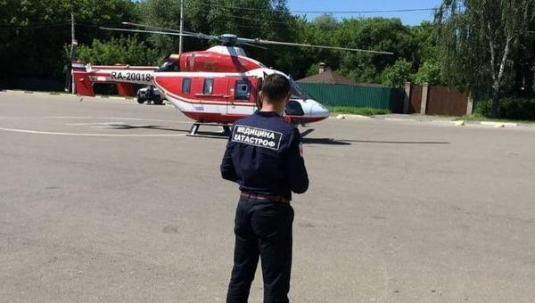 Сбитого под Серпуховом мальчика увезли на вертолете