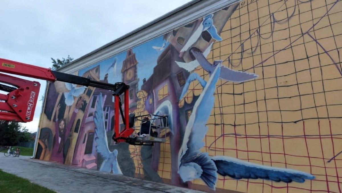 Илья Демченко прокомментировал критику в адрес своих граффити в Серпухове