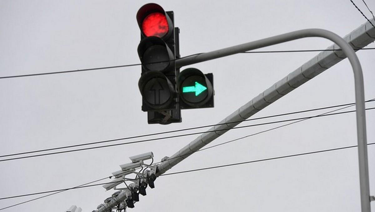 На опасном шоссе в Серпухове модифицировали светофор