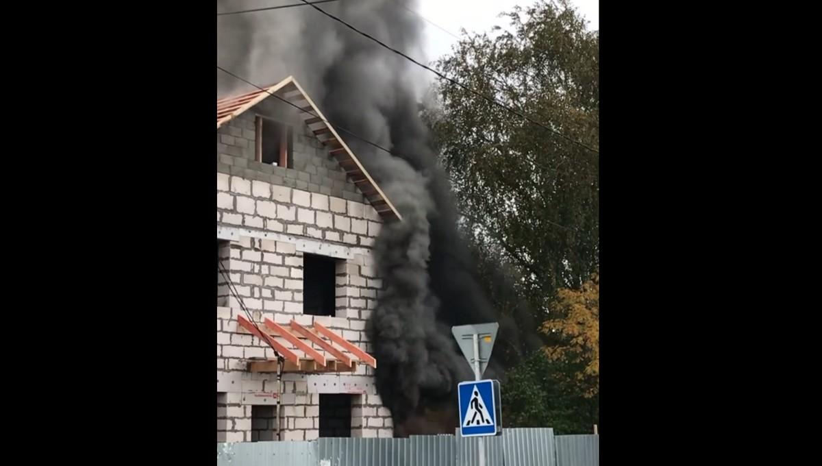Семья в Серпухове осталась без крова после крупного пожара
