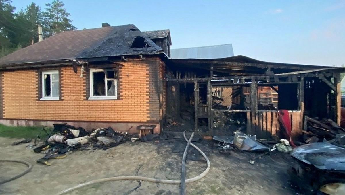 Мать погибла в пожаре, спасая своих детей