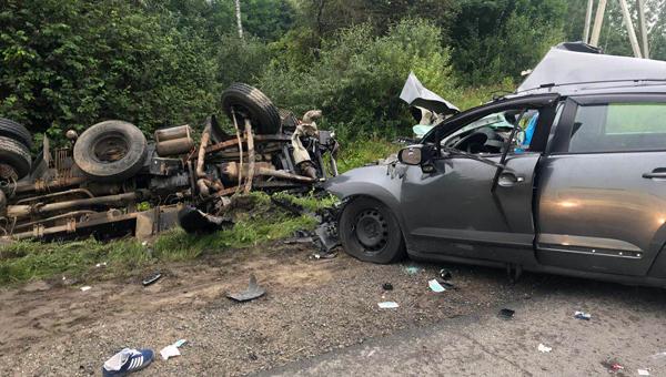 В Чеховском районе в результате массового ДТП погиб человек